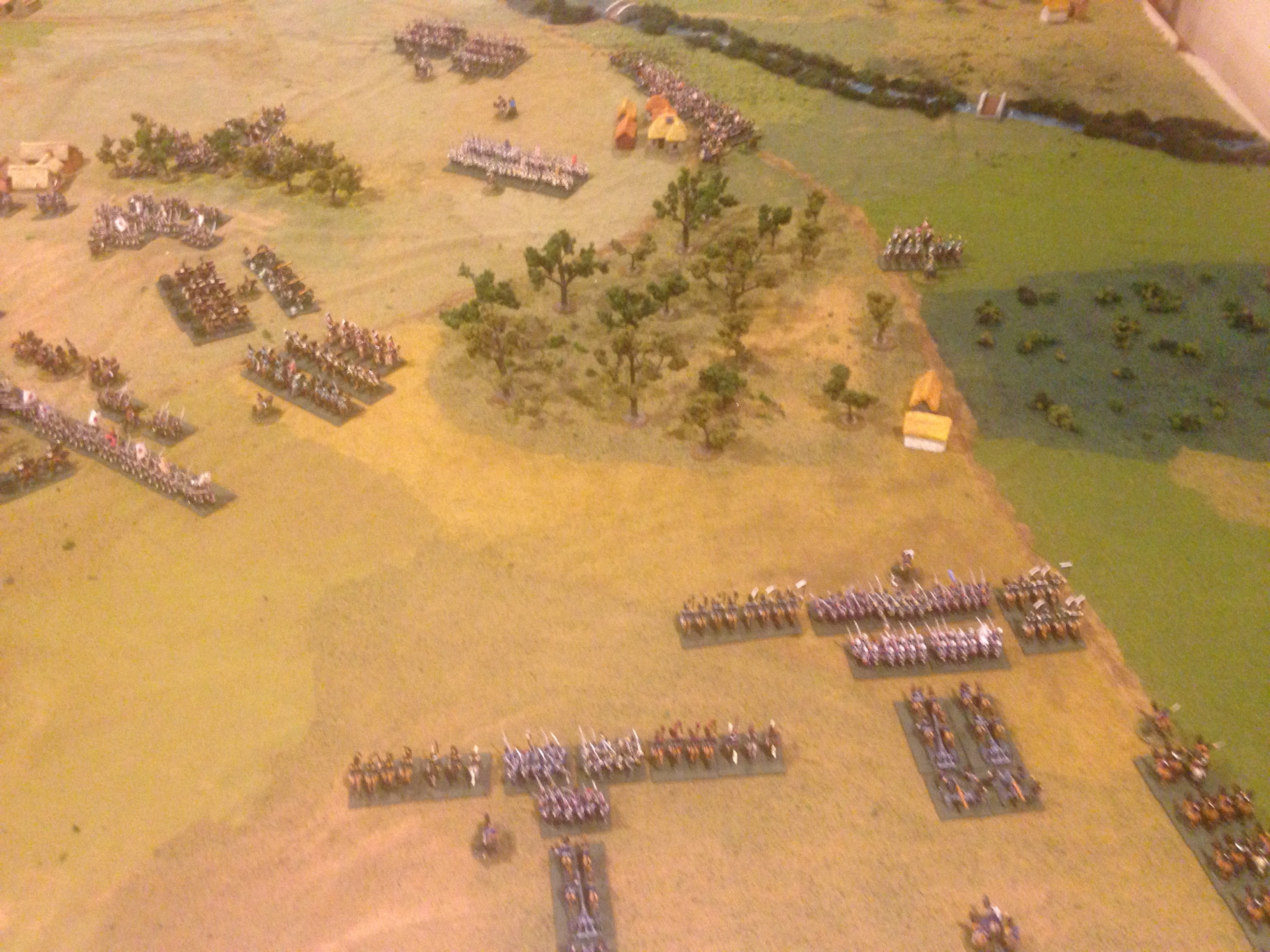 Prussian corps composing the Allied right flank.