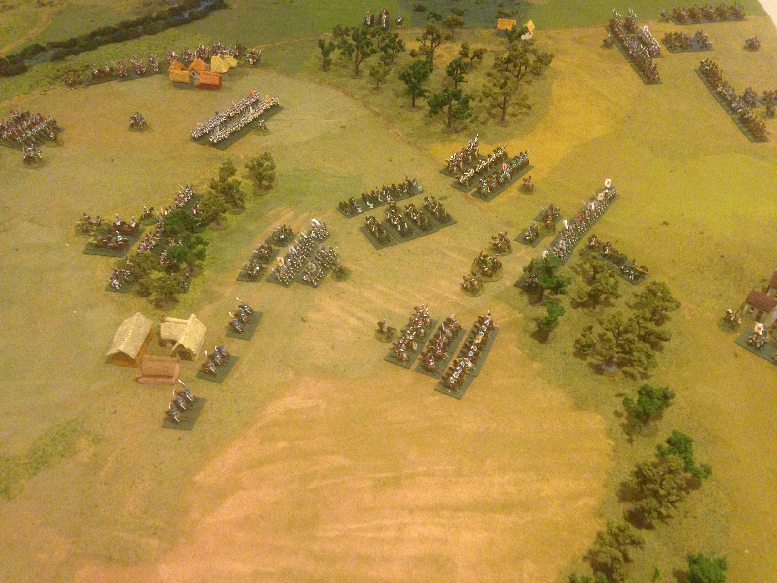 Viewing the battlelines from behind the Russian left on the southern flank.