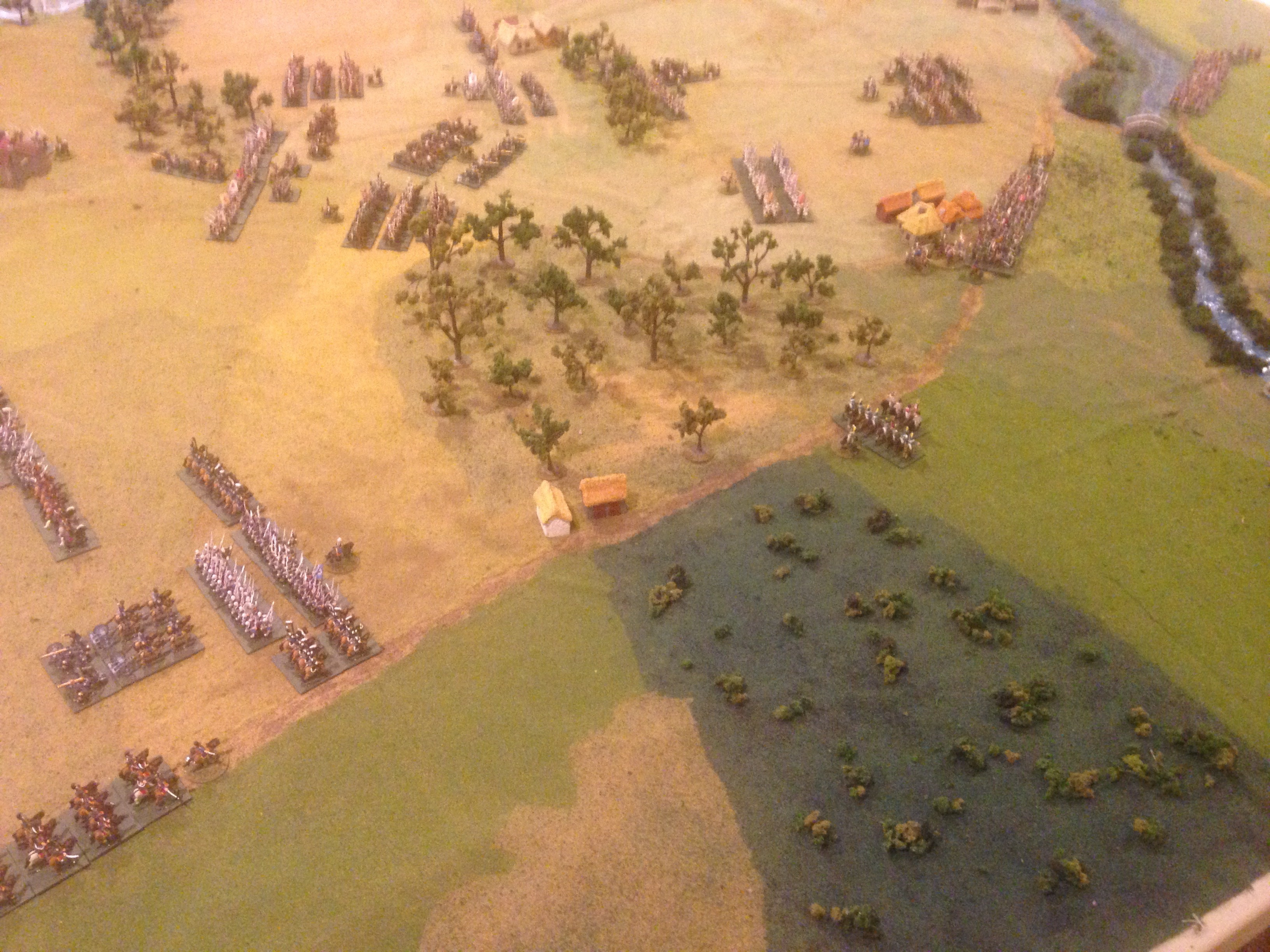 View of the developing French left wing opposed by the Prussians.