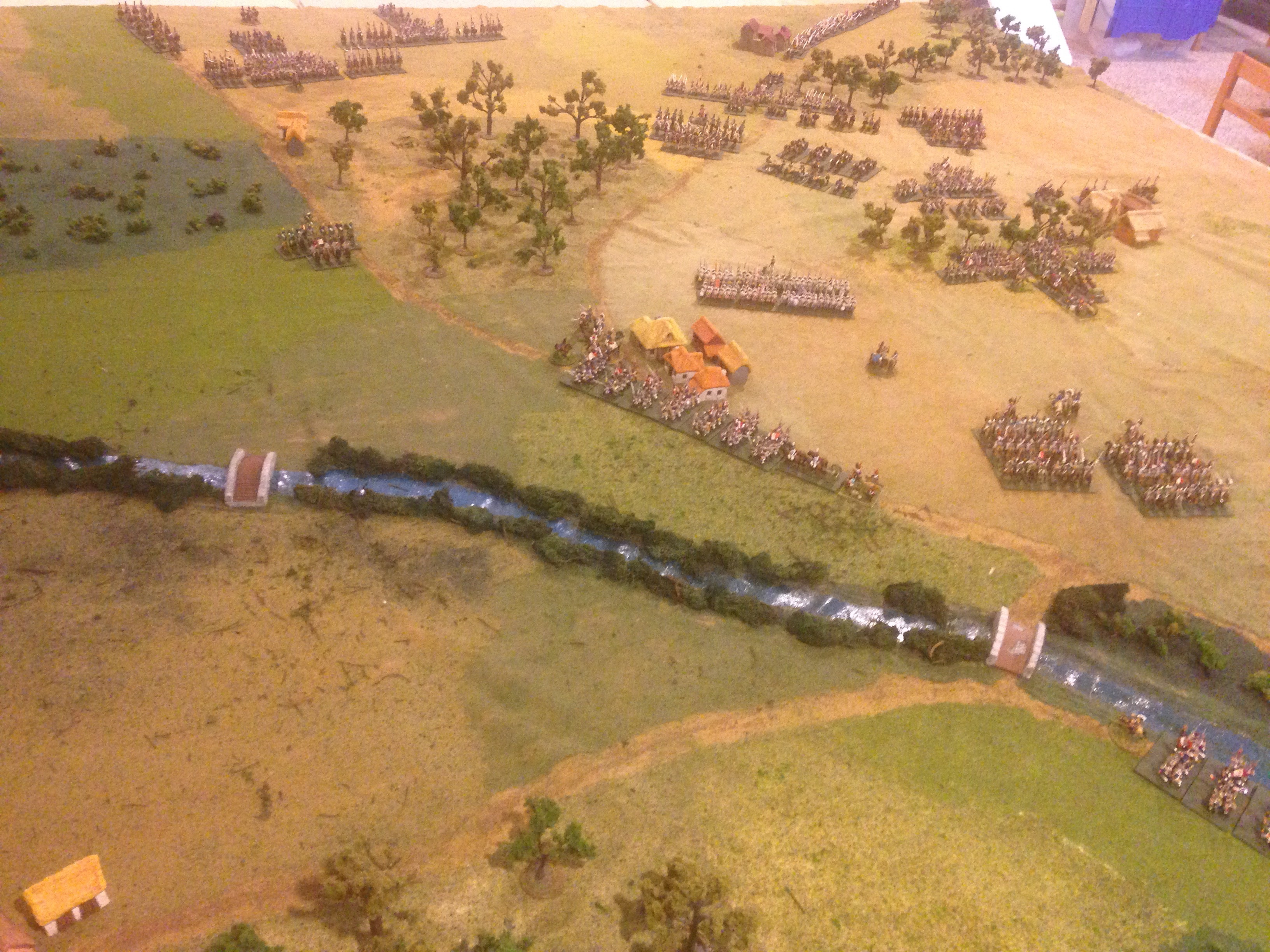 Rear of the French line showing the proximity of the crossing points to the battle line.