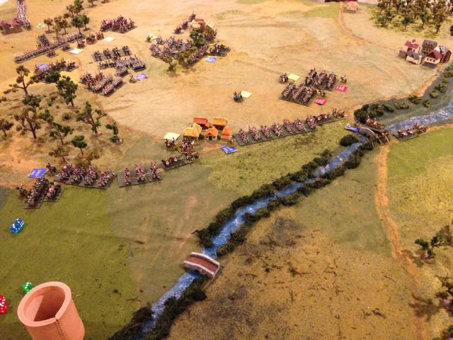 The French left wing rushes forward to deploy while the Saxon division attacks the Russian grand battery.