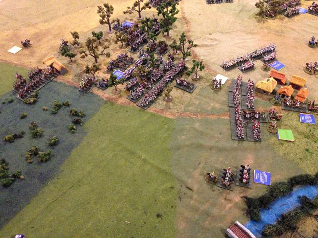 The Prussian lead division slams into the French left.