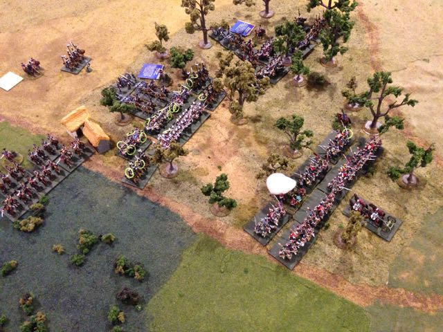 Having almost a third of their division thrown back due to horrible dice, the Prussian assault bounces.