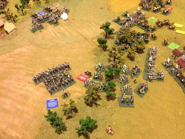 The Russian cavalry of the left flank were ejected without any level of success.