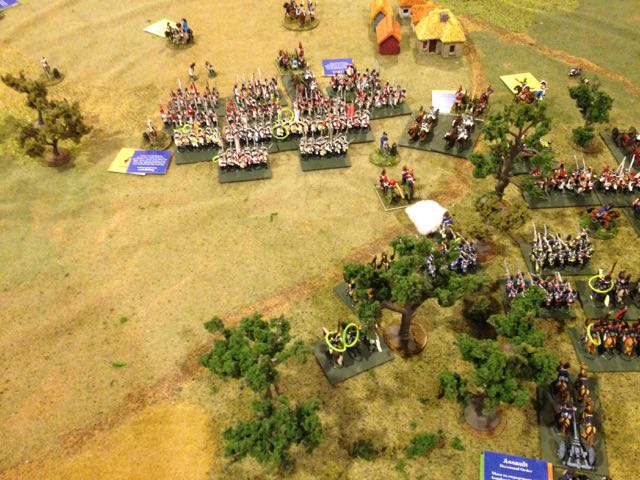 Lucky dice continue for the French and the Saxon battalions rally up.