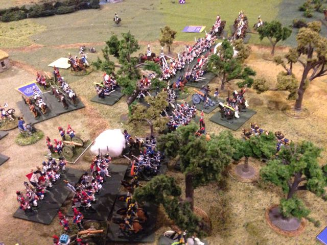 A desperate fight ensues as the Prussian grenadiers high portions of two French divisions.